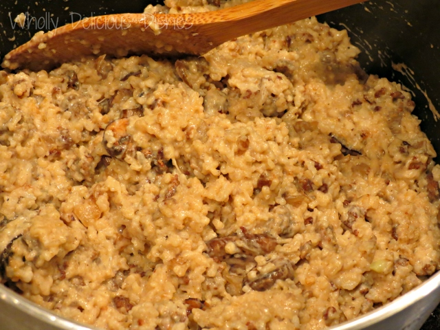 Almost Risotto with Sausage and Mushrooms