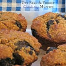 Oat Bran & Yogurt Blueberry Muffin