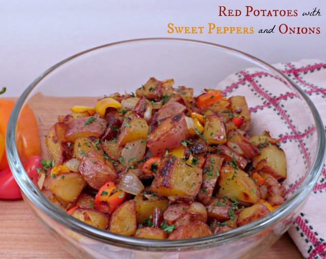 Red Potatoes with Sweet Peppers and Onions