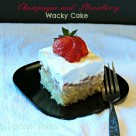Champagne and Stawberry Wacky Cake #champagnestrawberry #valentinesday