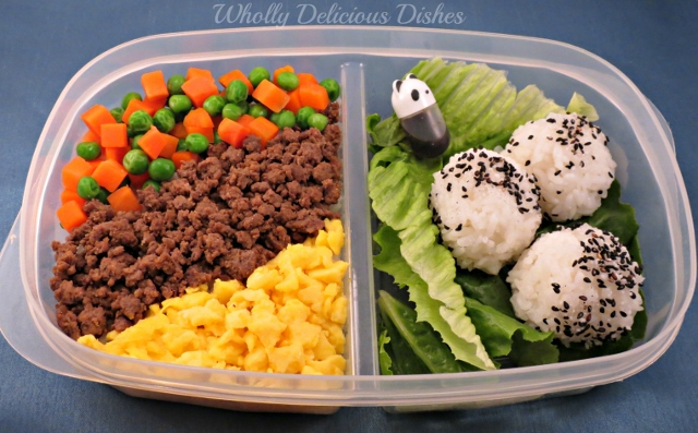 Soboro Don -Japanese Rice Bowl #bento #japanese whollydelicousdishes.com