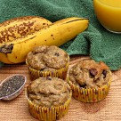 Banana Chocolate Chip Chia Seed Muffins