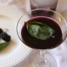 Blackberry Vodka Martini